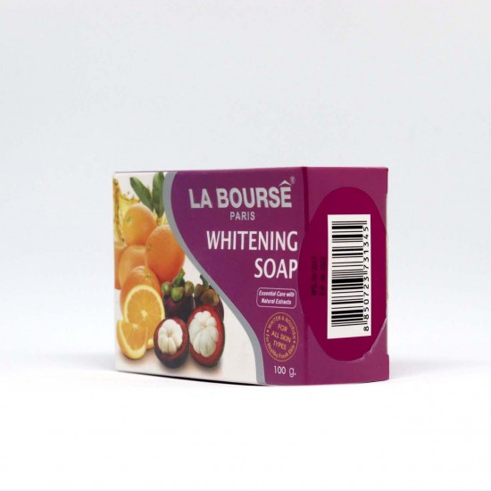 LA BOURSE PARIS WHITENING SOAP 100G WITH with MANGOSTEEN HUSK EXTRACT
