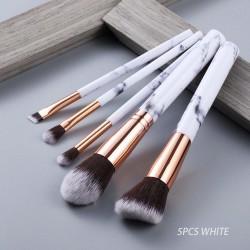 FLD Cosmetic Powder Eye Shadow Foundation Blush Blending Beauty Make Up Brush 5Pcs Black Makeup Brushes Tool Set